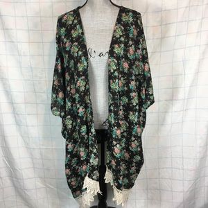 My Story ONE SIZE Floral Kimono Duster 1X 2X 3X